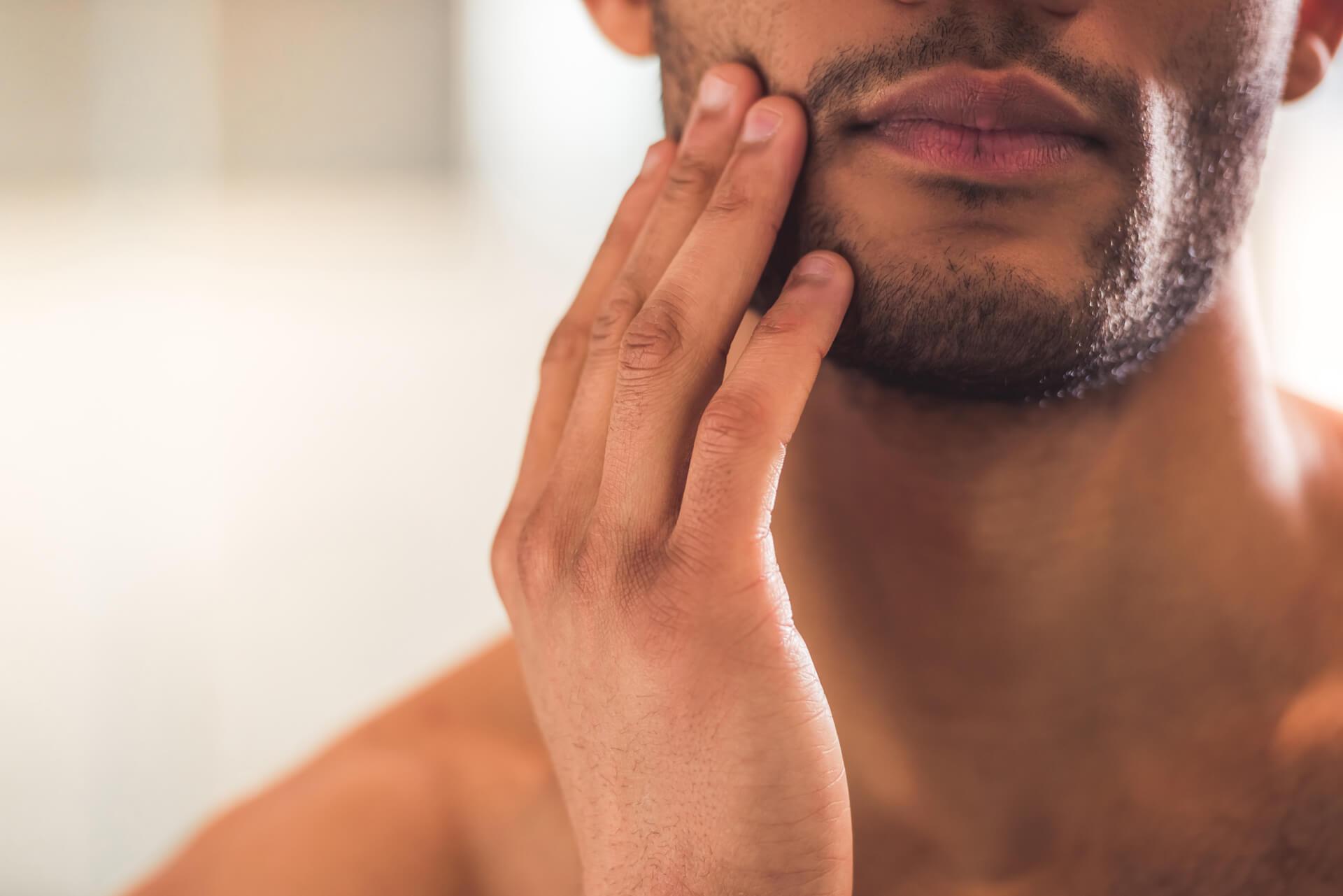 arbū organic cosmetics a man with a beard