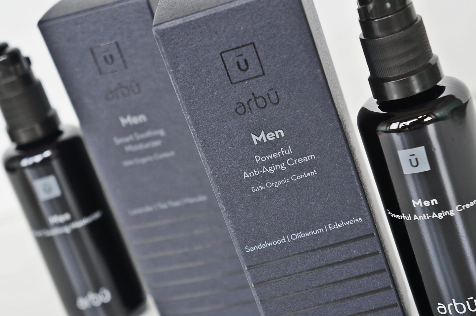 arbu men packaging labels